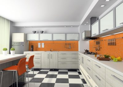 View on the modern kitchen