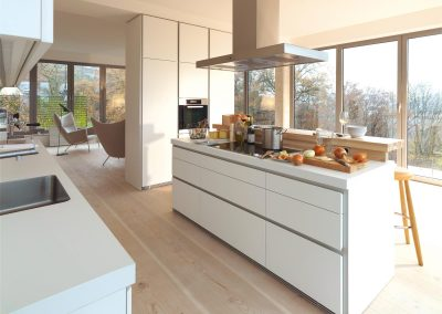 Modern luxury kitchen and dining room interior
